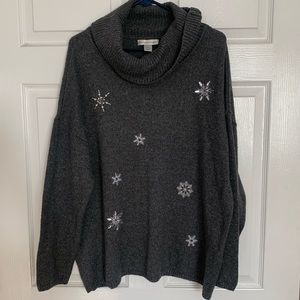 Christopher and Banks silver sweater XL